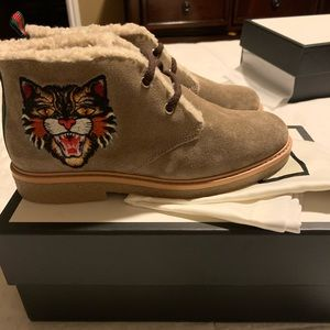 Gucci boy boots kids